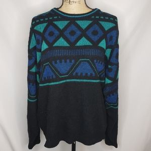 Le Tigre | Vintage Teal and Blue Sweater